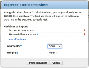 When exporting a data sheet into excel, users can automatically add global variables to the exported collection of cases for rapid analysis of global variables.